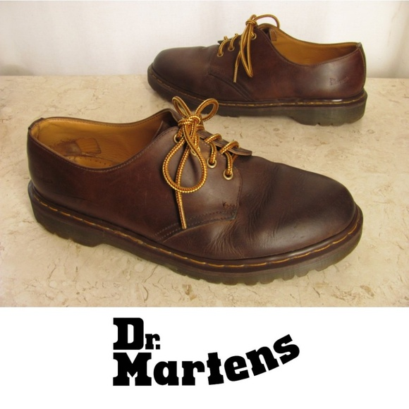 Dr Martens Shoes Mens 13 M Brown Oiled Leather
